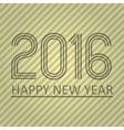 happy new year 2016 on the striped paper vector image vector image