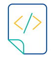 html tags storage blue and yellow linear icon vector image vector image
