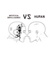 humans vs robots vector image vector image