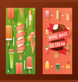 ice cream store banner vector image