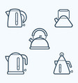 kettle icon set symbol vector image