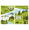 landscape design and gardening association posters vector image vector image