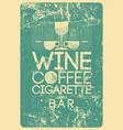 lounge bar menu grunge geometric pattern design vector image vector image