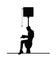 man on toilet silhouette vector image
