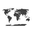 map world - robinson projection vector image