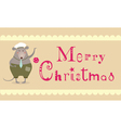 merry christmas mouse vector image vector image