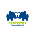 modern childrens dentistry and elephant logo vector image vector image
