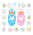 newborn color icons vector image vector image