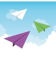 paper plane flying toy vector image vector image