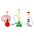 Pipe smoke or hookah for turkish tobacco vector image