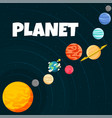 planet orbiting design black background ima vector image