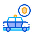 police car machine icon outline vector image
