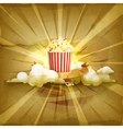 Popcorn old style background vector image vector image