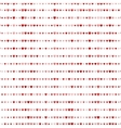 Red hearts pattern Good for textile and paper vector image