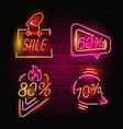 retro neon sign vector image