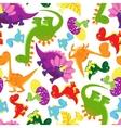 seamless background pattern badinosaurs vector image vector image