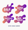 set of bright colorful stickers sale and discount vector image vector image