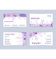 Set of watercolor business cards vector image
