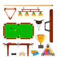 snooker icons set snooker billiard vector image