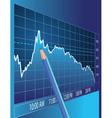 stock market vector image vector image