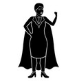 superwoman cartoon character silhouette vector image