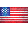 USA Old Flag Art Background vector image vector image