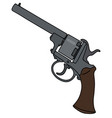 vintage six bullets revolver vector image