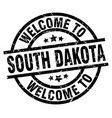 welcome to south dakota black stamp vector image vector image