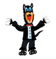 wolf in suit vector image