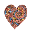 Zentangle doodle heart love with ornaments vector image vector image