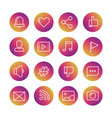 web social network social media and vector image