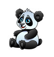 cartoon panda isolated vector image