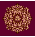 lacy golden mandala vector image