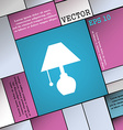 table lamp icon sign Modern flat style for your vector image