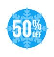 50 off sticker winter sale vector image