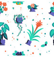 abstract seamless pattern with home plant vector image vector image
