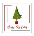 abstract shristmas tree postacrd vector image