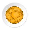 Ball of yarn icon flat style vector image