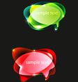 ballons text vector image vector image
