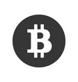 bitcoin sign blockchain based secure vector image