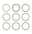 black and golden empty circle floral emblems set vector image vector image