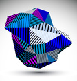 Bright triangular abstract 3D digital eps8 vector image vector image
