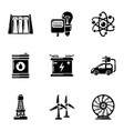 capacity icons set simple style vector image vector image