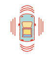 car transportation from above with sunroof vector image vector image