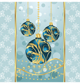 christmas background with set balls vector image