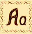 color letter a of the latin alphabet with a vector image vector image