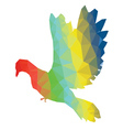 Colorful Polygonal Pigeon vector image vector image