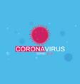 coronavirus backgraund poster vector image