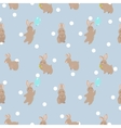 cute seamless pattern with rabbit vector image vector image