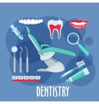 Dental care flat icon for dentistry design vector image vector image